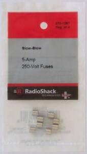 Slow-Blow 5-Amp 250 Volt S506 218 UTE Glass Fuses 5x20mm 5A 250V 4/PK