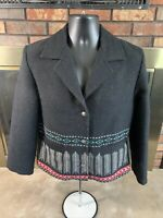 Vintage Wooded River Idaho Western Aztec Wool Blazer Jacket Women's Size Medium
