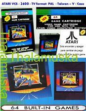64 Games in 1 - Cartucho Multijuegos - ATARI 2600 VCS - PAL - New Neu Nuevo