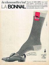 PUBLICITE ADVERTISING 094  1965  LA BONNAL   chaussettes
