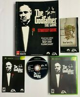 Godfather: The Game w/ Strategy Guide Xbox Complete w/ Manual and Map CIB A03