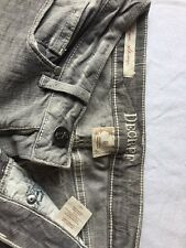 Decree Super Skinny Women's Juniors Gray Embroidered 5 Pocket Jeans Size 0 ~