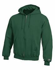 Champion Hoodie Sweatshirt Eco Double Dry Fleece Full Zip Front Pockets sz S-3XL
