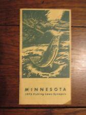 sbb15 vintage 1973 Minnesota MN Fishing Laws Synopsis
