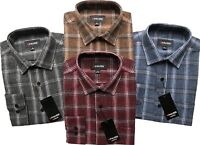 Mens Long Sleeve Flannel Lumberjack Check Causal Shirt Brushed 100%Cotton M-6XL