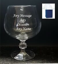 Personalised Engraved Brandy Glass Tumbler Best Man Birthday Wedding Xmas Gift
