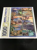 bits and pieces puzzle 1000 Jigsaw Puzzle Camping Fun Quilt Counted