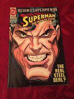 """Superman: Man of Steel #25 1993 """"Reign of the Supermen"""" Return of Superman DC v"""