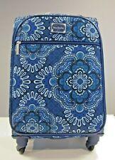 03ad564de4 Vera Bradley Spinner Travel Luggage Suitcase Blue Tapestry 22