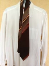 True Vintage Kipper Tie by Alcol,  Brown/Striped  1960's /1970's  Good Condition