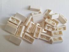 Lego White Slope 30 1x2, Part 85984, Element 4547489, Qty:25 - New