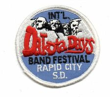 "MT RUSHMORE DAKOTA DAYS BAND FESTIVAL RAPID CITY S.D. EMBROIDED 3"" IRON ON PATCH"
