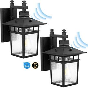 ZJOJO 2-Dusk to Dawn Outdoor Lighting, Motion Sensor Porch Light, Wall Lantern