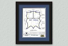 1966 Batman & Robin BAT SHIELD Illustration Art Print Signed & #'d By Artist!