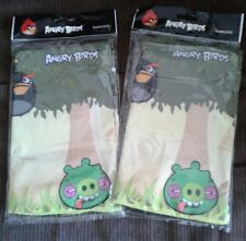 """2 Angry Bird Washable Stretchable Fabric Book Cover☆School Supplies☆16"""" x 9.5"""""""