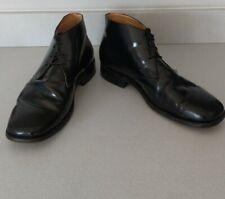 Samuel Windsor Black Handmade Patent Leather Men Chukka Lace Up Boots UK Size 12