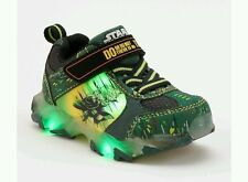 New Boys Sz 10 Toddler STAR WARS Yoda light up sneakers THERE IS NO TRY slip on