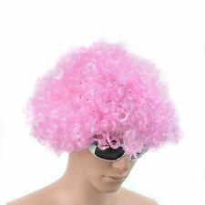 CURLY AFRO PINK WIG FANCY DRESS PARTY DISCO CLOWN FUNKY MEN/LADIES 70S COSTUME