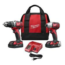 Milwaukee 2691-22 18V Cordless Drill and Impact Driver Combo Kit Charger Bag NEW