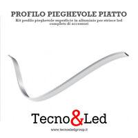 PROFILO LED ALLUMINIO PIEGHEVOLE STRIP CANALINA FLESSIBILE