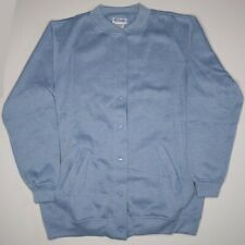 Women's Blair Blue Fleece Snap Button Jacket  Women's Size Small