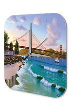 Agence Voyage Vacances Décoration Horloge  Golden Gate Bridge Acrylglas