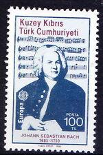 Turkish Cyprus 1985 MNH, Europa, Sebastian Bach, German Composer, Music