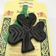 Shamrock Ornament Island Turf Crafts Black Bog Collection County Tyrone