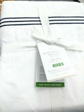 NWT! Pottery Barn Grand Embroidered Duvet Cover/King-Cal King/White-Midnght/$159