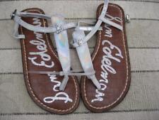 b388e91bb81437 NWT Sam Edelman Kid s Silver Gigi Charm Sandals Size 5