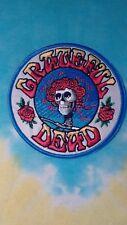 Grateful Dead Bertha Skull & Roses 3.5 Inch Iron On Patch