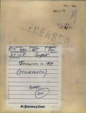 JIM MORRISON DECEASED ORIGINAL 1971 BULLETIN WIRE THE DOORS V RARE