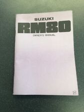Suzuki Rm 80 Owners Manual Genuine Nos