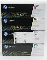 HP 201A Black Cyan Magenta Yellow LaserJet Printer Toner Cartridge Set BNIB