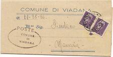 P6776   Mantova, Viadana, piego amm. viaggiato per Macaria 1945