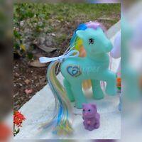 G1 Style Vintage Rainbow Pony Custom Hqg1c - Rainbow Beats & Keeper