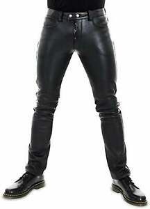 Mens Leather Genuine Sheep Leather Party Pants - Handmade Real Leather Pant