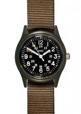 MWC Matt Negro 1960/70s patrón de Vietnam militar Reloj Oliva Caqui Nuevo en Caja