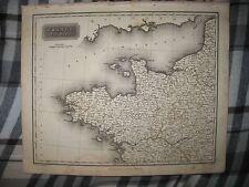 SUPERB ANTIQUE 1817 NORTHWEST FRANCE ARROWSMITH DATED MAP WINE REGION INTEREST
