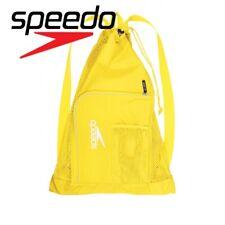 Speedo Swim Bag Ventilator Mesh Yellow Gym Sports School Swimming Pool Backpack