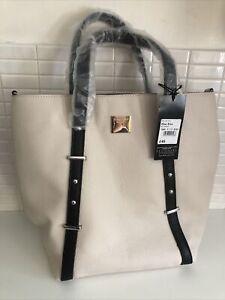 Ben de Lisi @ Principles Medium Cream Faux Leather Hand Bag with Shoulder Strap