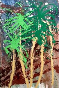 Palm Fronds, Original Painting, Dale Chihuly - LARGE