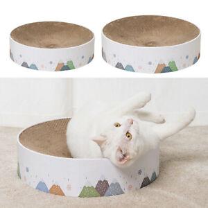 Cat Kitten Scratching Cardboard Pad Lounge Bed Round Cat Scratch Lounge