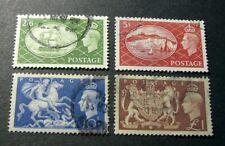 Great Britain Stamp Scott# 286-289 Royal Arms- King George Vi 1951 L296
