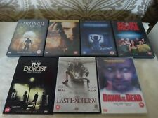 DVD collection 7 Mixed 18 Cert Horror Poltergeist Amityville Exorcist etc