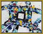 Framed Sam Francis Untitled 4 Giclee Canvas Print Paintings Poster Reproduction