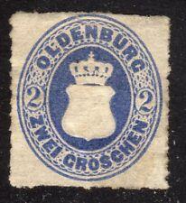 OLDENBURG STAMP #19 —  2g COAT OF ARMS -- 1862 -- UNUSED