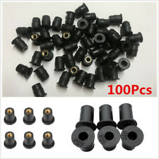 100pc M5 Rubber 5mm Metric Motorcycle ATV Windscreen Well Nut Windshield WellNut