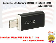 Micro USB 5 Pin to 11 Pin HDMI HDTV MHL Adapter Converter For Samsung S3 Note 2