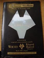 07/12/1993 Wolverhampton Wanderers v Kispest Honved [Celebrating The Completion
